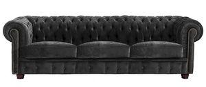 Max Winzer Norwin Sofa 3-Sitzer - Farbe: schwarz - Maße: 200 cm x 98 cm x 74 cm; 2909-3100-2044140-F07