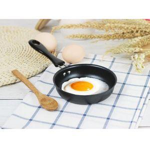 1 Set Mini Bratpfanne Pfanne Ei Omelett Pfanne & Spatel Runde Nonstick Pan