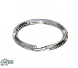 10 Schlüsselringe Schlüsselring Spiralringe 24 mm Spiralring Vernickelt