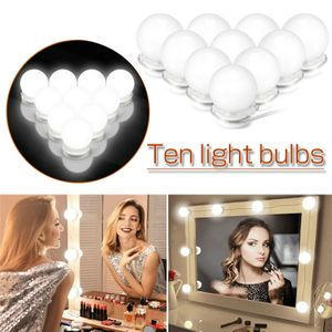 Hollywood USB LED Spiegelleuchte Schminktisch Beleuchtung Schminklicht Spiegel Lichter Lampen für Kosmetikspiegel Deko