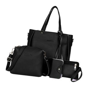 Vierteiliger Anzug Mit Fransen Für Die Handtasche Schwarz Handtaschen