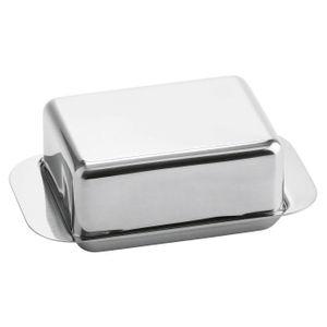 Weis Butterdose, Edelststahl, für 125 g (1/4 Pfund) Butter, 12,5 x 7,5 x 4,5 cm, silber