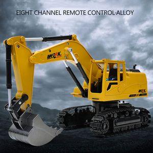 Traktor Fahrzeug Spielzeug Mini 8 CH Gelb + Schwarz Legierung + Kunststoff Trompete Sound Wireless Rc Digger Auto