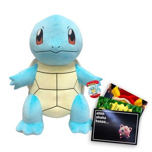 Pokemon XXL Plüschtier ca. 60 cm großes Schiggy und exklusive GRATIS Grußkarte