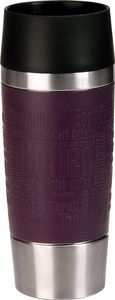 Isolierbecher 'Travel Mug', 0,36 Liter, Edelstahl / Brombeer