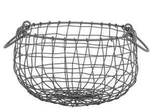 Esschert Design Draht Korb -MITTEL- rund Ø 27 cm Griffe Dekoration Garten Deko