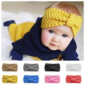 8 Farben Kinderbogen Stirnband, Winter Baby gestrickt Stirnband, Baby Wolle Ohrschutz, Baby Haarschmuck