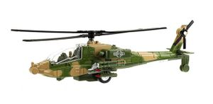 Army Hubschrauber Licht Sound Rückzug Militär Kampfhubschrauber Metall Modell Spielzeug Kinder Geschenk Metal 98 (Grün)