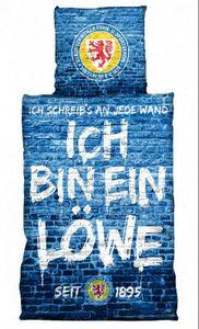 Eintracht Braunschweig Bettwäsche Ich bin ein Löwe Fussball 3. Bundesliga Blue