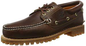 TIMBERLAND Echtleder Bootsschuhe 3 Eye Classic Lug Braun Schuhe, Größe:44