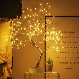 LED Kupferdraht Baum Lampe Warmweiß Künstlich Bonsai Baum Nachtlicht Dekoleuchten Batteriebetrieben Innen Deko