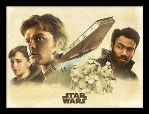 Montage Solo A Star Wars Story gerahmtes Bild Star Wars