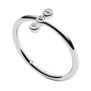 Fossil JF02592040503 Damen Ring Edelstahl Silber Weiß 50 (15.9)
