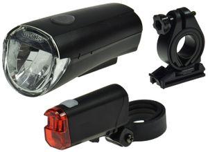 ChiliTec Fahrrad LED-Beleuchtungsset CFL 30 30Lux, StVZO zugelassen, Batteriebetrieb