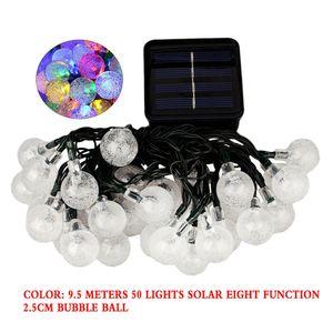 50er LED Solarlampe Lichterkette Glühbirnen Birnen Außen Innen Deko, Bunt