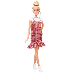 Barbie Fashionistas Puppe (blond) mit rosa Kleid
