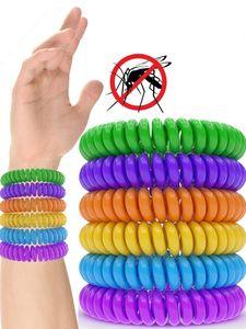 Mückenschutz Armband (12 Stück) Mückenarmband Armbänder zum Schutz gegen Mücken Camping wandern Zubehör für Kinder und Erwachsene