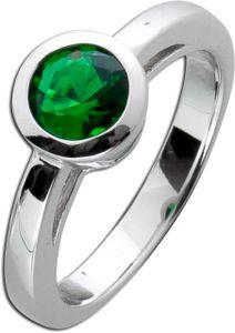 Solitär Ring Smaragd Grün Sterling Silber 925  Zirkonia 17