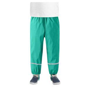 Dünne wasserdichte winddichte und atmungsaktive Regenhose für Kinder im Freien Größe:122/128,Farbe:Grün