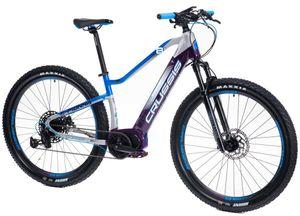 "29 Zoll Elektrofahrrad MTB E-Bike Modell e-Fionna 8.6-S CRUSSIS 2021 630Wh 17,5Ah Bafang M400 80Nm Pedelec Rahmenhöhe 19"" (45,7 cm) Weiß/Blau/Lilla"
