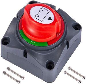 12V - 48V Batterieschutzschalter Batterietrennschalter, 275A Wasserdichter Batterietrennschalter Batterietrennschalter für Autos, Boote, Fahrzeuge