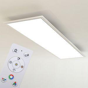 LED Panel  Ultraflaches RGB CCT Deckenleuchte Dimmbar 42W Weiß Briloner Leuchten