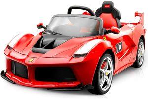Goplus Elektrofahrzeug 2.4G LaFerrari FXX K, Kinderauto Elektro, Elektroauto fuer Kinder, Kinderauto Rot, inkl. Fernsteurung