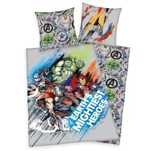 Avengers Wende Bettwäsche  80 x 80 cm + 135 x 200 cm 100% Baumwolle