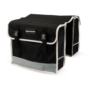 Dunlop Doppeltasche Fahrradtasche Wasserfest - 26 Liter - Universell für jedes Fahrrad - Schwarz - Trolley, Seitentasche, Fahrrad Tasche, Gepäckträger