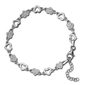 SilberDream Zirkonia Armband 925er Silber Herzen silber Damen Schmuck SDA4798W