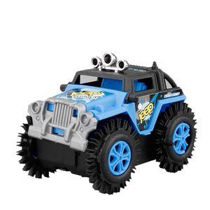 Kinder Elektro Stunt Flip Spielzeugauto Cartoon Puzzle Dump Truck Offroad Kletterer Klettern Fahrzeug Blau