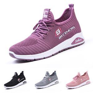Damen Atmungsaktive Netzschuhe mit weicher Sohle Sneakers,Farbe: Pink,Größe:38