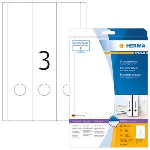 HERMA Ordnerrücken Etiketten SPECIAL 61 x 297 mm weiß 75 Etiketten
