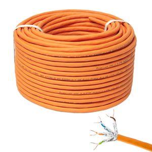 PremiumX 100m CAT 7 Netzwerkkabel Simplex LAN Kabel Ethernet Datenkabel Cat7