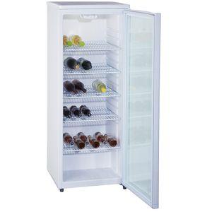 PKM Glastürkühlschrank Flaschenkühlschrank Getränkekühlschrank GKS255 - 143 cm