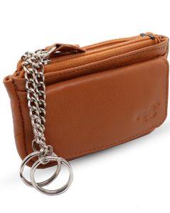 Safekeepers Schlüsseletui - Schlüsselmappe - Schlüsseltasche - schlüsselmäppchen - Schlüsseletui Leder- Herren- Damen leder - Cognac - Hellbraun