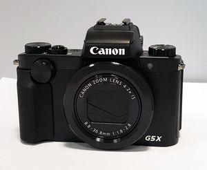 Canon PowerShot G5X Kompaktkamera, Farbe:Schwarz