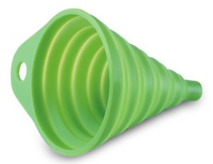 mumbi faltbarer Silikontrichter Trichter klein Einfüllhilfe (ca. 8,6x10,5 cm) grün
