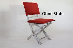 Polsterset für Klappstuhl Sienna Rot Kissen Set für Destiny Teakmöbel - Ohne Stuhl -