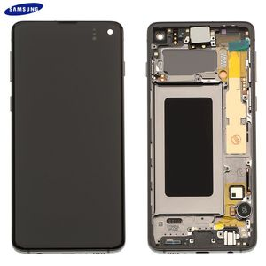 Original Samsung Galaxy S10 G973F LCD Display Touch Screen Bildschirm Amoled Digitizer (Service Pack) Prism Black GH82-18850A / GH82-18835A