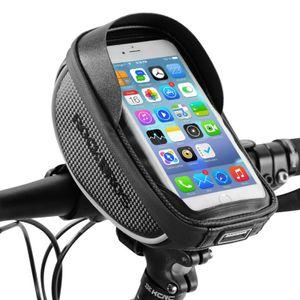 ROCKBROS Fahrrad Rahmentasche Handyhalterung wasserdicht für 6.00'' Handy schwarz