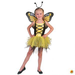 Kostüm Schmetterling gelb, Größe:104