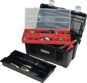 raaco Werkzeugkoffer Breite 445 x Höhe 235 x Tiefe 230mm aus Polypropylen mit Schnappverschluss schwarz / silber - 715140