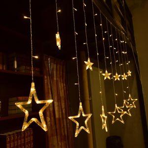 LED Lichterkette Sternenvorhang Lichtervorhang Weihnachten Dekoration warm weiß