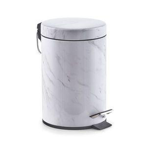 Zeller Treteimer 'Marmor' Abfallbehälter Kosmetikeimer Papierkorb Mülleimer