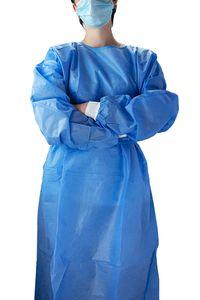 Janmed® SMS-Schutzkittel blau, 40g/m², Anzahl: 10 Stück