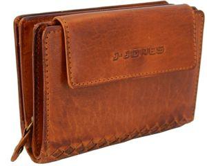 Damen Leder Geldbörse Flecht-Optik Portemonnaie viele Karten-Fächer Geldbeutel