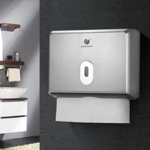 CHUANGDIAN Wand Badezimmer-Gewebe-Zufuhr-Gewebe-Kasten-Halter für Multifold Papiertücher[Silber]