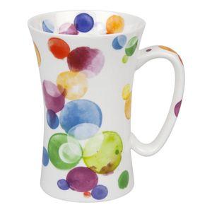 Könitz Colourful Cast Bubbles Mega Mug, Becher, Tasse, Riesentasse, Bone China, Bunt, 630 ml, 11 2 016 2263