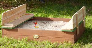 Sandkasten Sandkasten für Kinder mit Sitzbänken Buddelkiste - (3028)